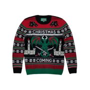 Ugly Christmas Sweater Mens Dragon Castle Wolf Medieval Christmas Sweater M