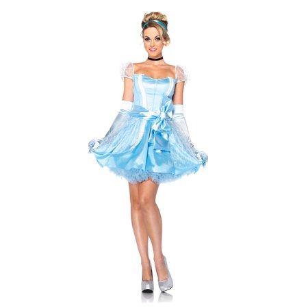 Adult Disney Princess Glass Slipper Cinderella Costume by Leg Avenue DP85056