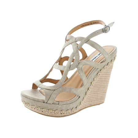 Not Rated Womens Anatolia Faux Leather Caged Wedge Sandals