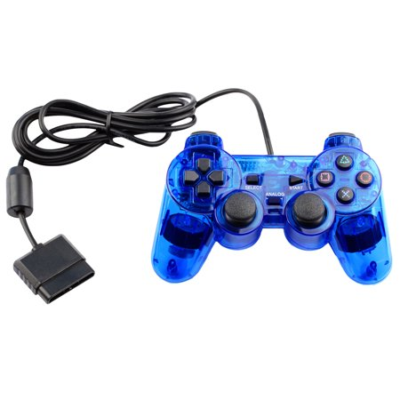 Ps2 Foam Deluxe Pad - Replacement Gaming Pad Controller For Playstation PS1 PS2 Game Console Systems  Wired - BLUE