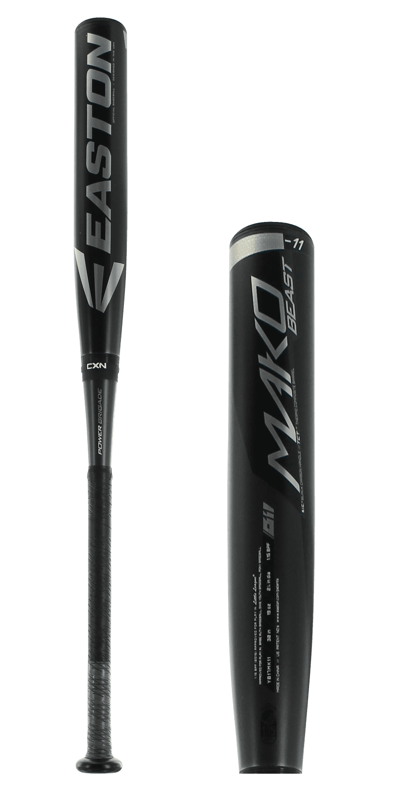 Click here to buy 2017 Easton MAKO BEAST Youth Baseball Bat: YB17MK11 by Easton.