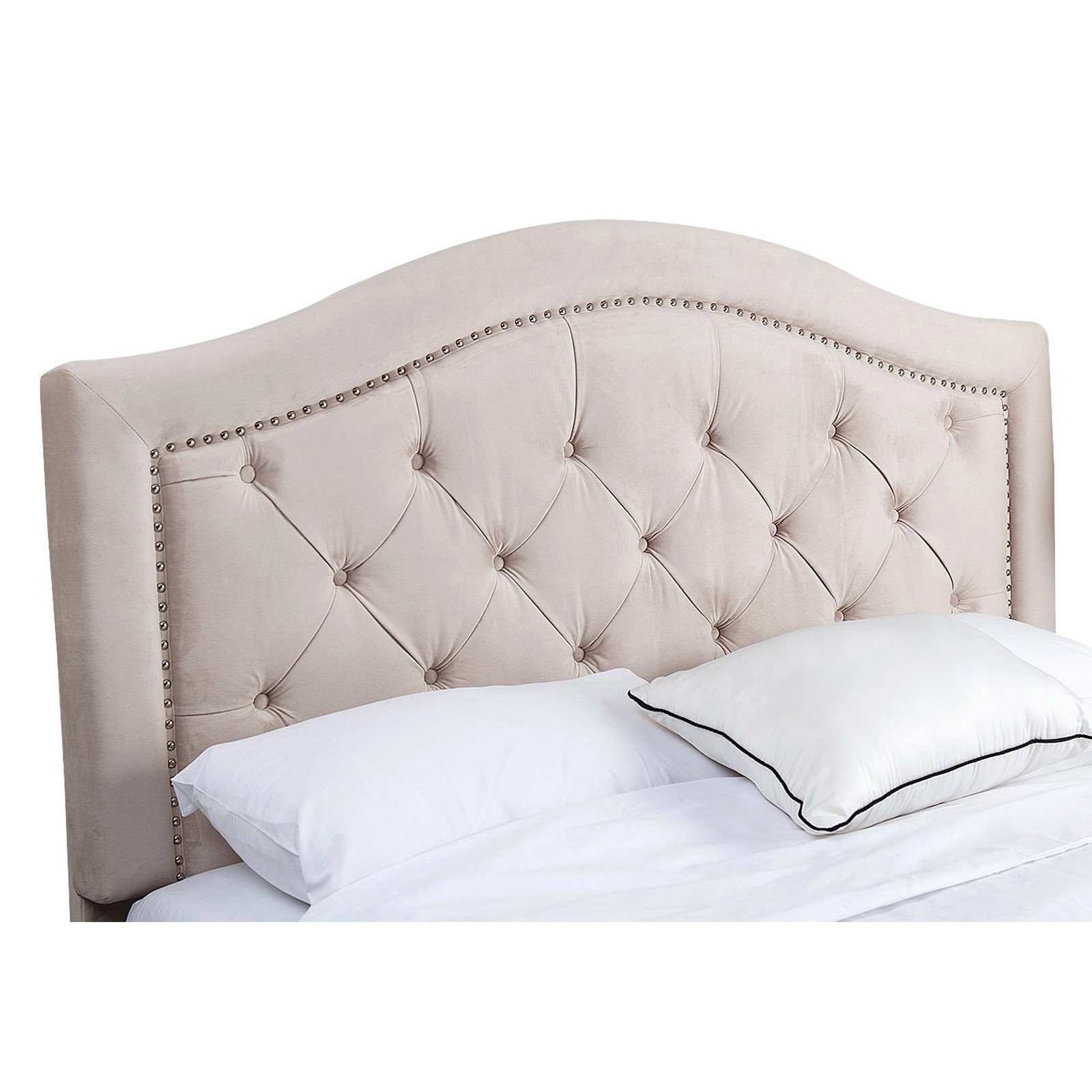 Abbyson Sherwood Tufted Velvet Headboard