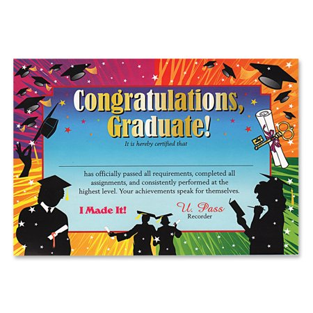 Graduation Certificate - Beistle Congratulations Graduate School Gift 5