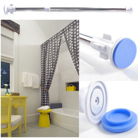 Tuscom Room Divider Tension Curtain Rod, Steel Shower Curtain Rods, Premium Windows Curtain Rods,No Drilling,Adjustable Extendable Bathroom Stall Tension Pole ()