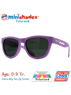Minishades Polarized: Flexible Toddler Sunglasses - Little Lilac  UVA/UVB  Hide n' Seek Replacement   Age: 0-3Yr.
