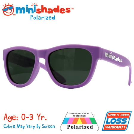 Minishades Polarized: Flexible Toddler Sunglasses - Little Lilac |UVA/UVB| Hide n' Seek Replacement | Age: (Sunglasses For Little Girls)