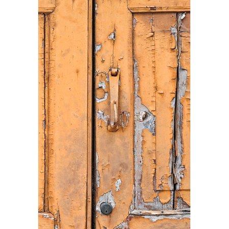Laminated Poster Paint Door Node Old Color Handle Wood Texture Print 24 X 36