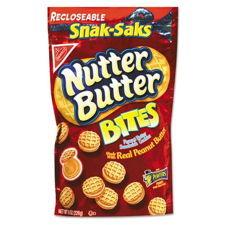 Nabisco Nutter Butter Sandwich Cookies Peanut Butter Bites Snak Saks  8 Oz