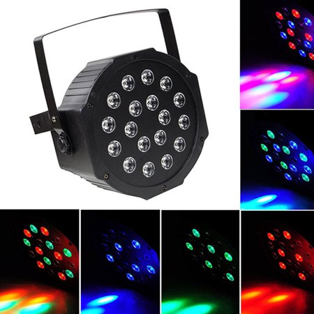 Zimtown Par Can 18 RGB LED Stage Light Disco DJ Bar Effect UP Lighting Show DMX Strobe - Light Up Bar