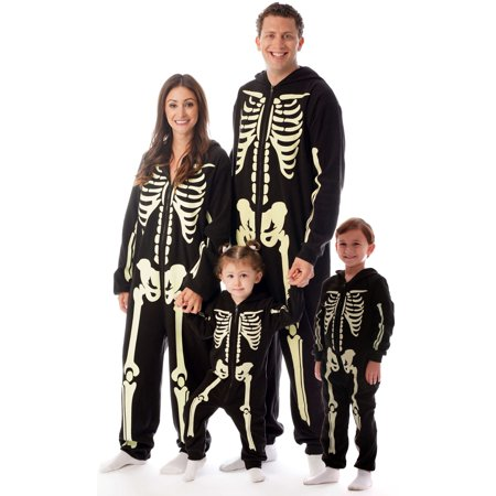 Just Love Boys Glow in the Dark Skeleton Jumpsuit One Piece Pajamas
