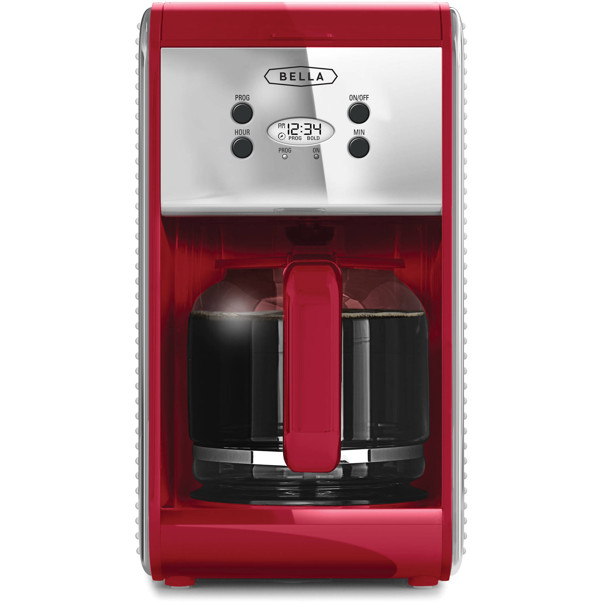 Bella Linea 12-Cup Programmable Coffee Maker, Red