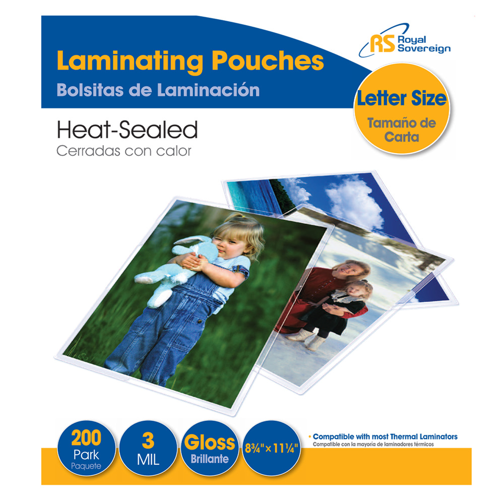 200 Pack Letter Size Thermal Laminating Pouches