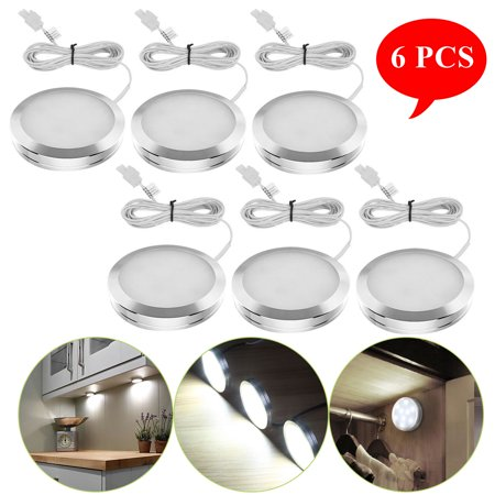 6 Pack LED Under Cabinet Counter Lighting Kit 12V DC Lights Home Kichen Closet Lights Daylight White 5000K Temperature High durability Safe & Secure Super bright (Under Cabinet Rope Lights)