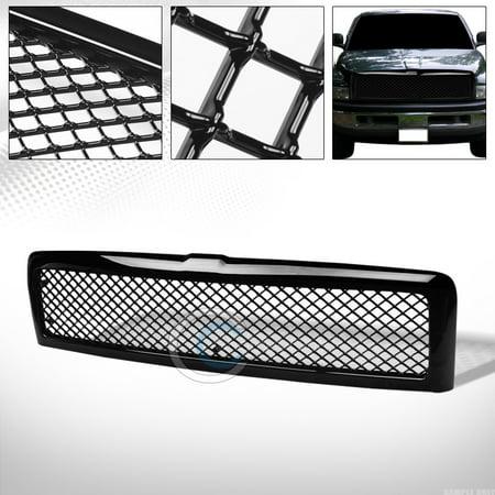 2004 Dodge Ram Front Bumper - R&L Racing Glossy Black Mesh Front Hood Bumper Grill Grille Abs 94-02 Dodge Ram 1500 2500