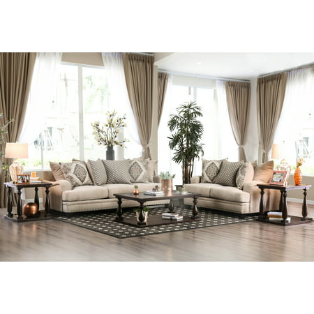 Furniture Of America Charles London Sofa And Love Seat Set