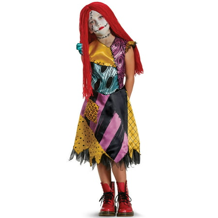 Sally Deluxe Child Costume (Sally The Nightmare Before Christmas Costume)