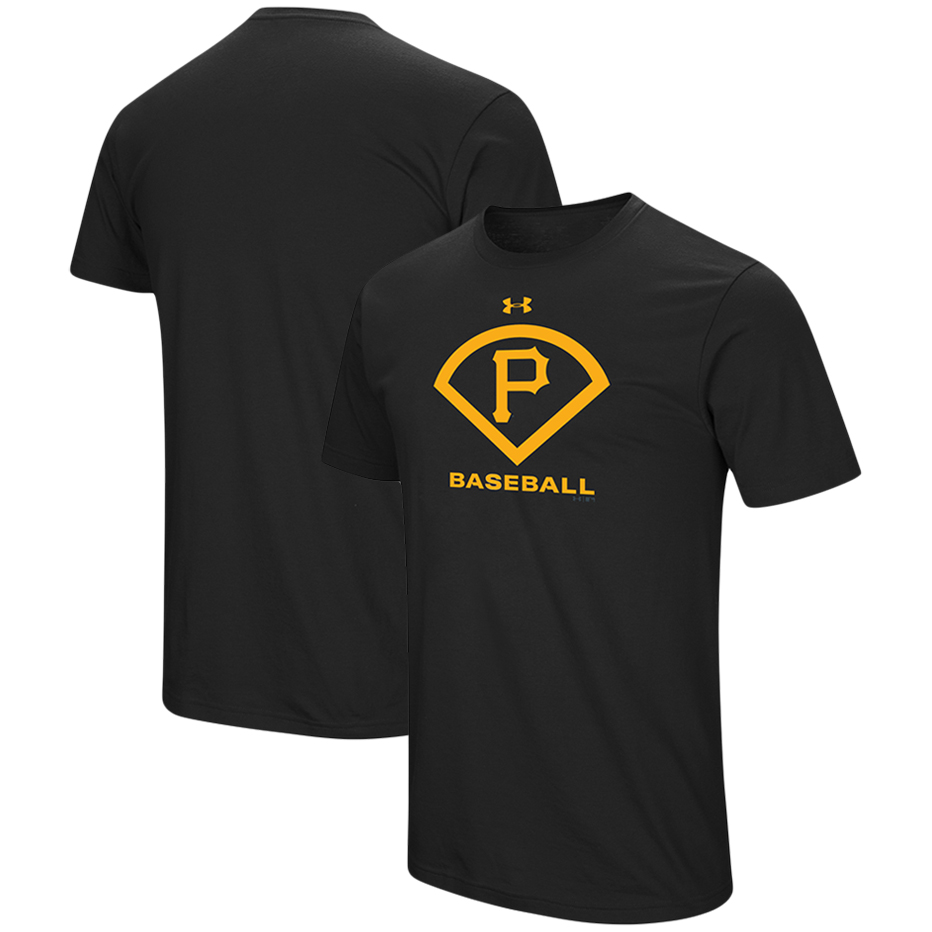 Pittsburgh Pirates Under Armour Performance Icon T-Shirt - Black