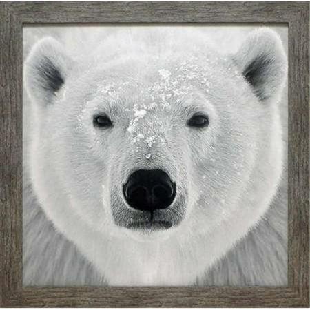 North American Art N1969 28 x 28 in. Polar Bear Framed Wildlife Lodge Landscape Art Print - image 1 de 1