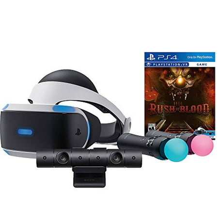 sony playstation vr rush of blood starter bundle 4 items vr headset move controller playstation. Black Bedroom Furniture Sets. Home Design Ideas