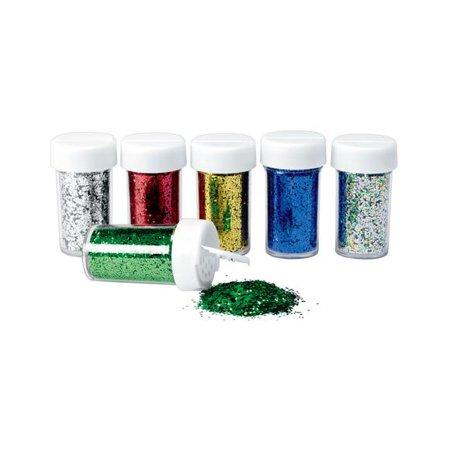 - Colorations Plastic Glitter Pack - Set of 6 (Item # GLITT)