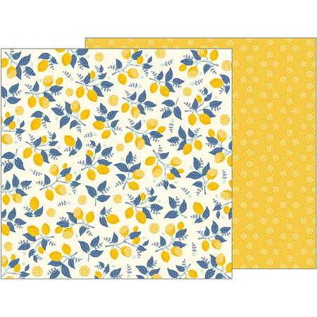 "Jen Hadfield Simple Life Double-Sided Cardstock 12""X12""-Sweet Citrus - image 1 de 1"