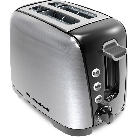 2 Slice Toaster Cream Chrome: Hamilton Beach Brushed Chrome 2 Slice Toaster