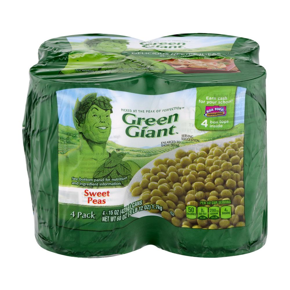 Green Giant Sweet Peas - 4 PK, 15.0 OZ