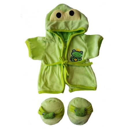 - Frog Robe & Slippers Pajamas Outfit Teddy Bear Clothes Fit 14