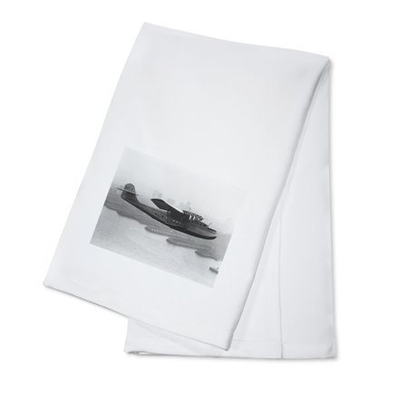 Pan Am Clipper Airline (Pan American China Clipper and San Francisco Skyline Photograph #2 (100% Cotton Kitchen Towel) )