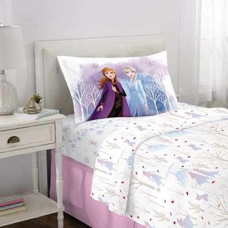 Disney's Frozen II Kids Bed Sheet Set, Elsa & Anna, Spirit of Nature, Twin (Frozen Bed Twin Set)