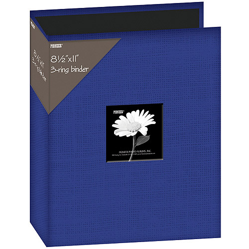 "Fabric 3-Ring Binder Album With Window, 8.5"" x 11"""