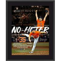 "Justin Verlander Houston Astros 10.5"" x 13"" 3rd Career No-Hitter Sublimated Plaque"