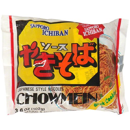 Sapporo Ichiban Chow Mein Japanese Style Noodles, 3.6 oz, (Pack of 24) Oriental Style Noodle