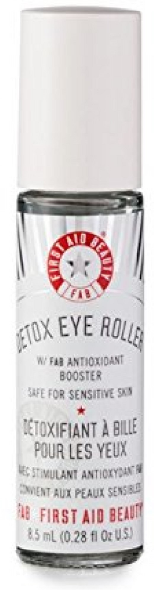 3 Pack - First Aid Beauty Detox Eye Roller 0.28 oz e.l.f. Hydrating Water Cleansing Cloths, 20 count