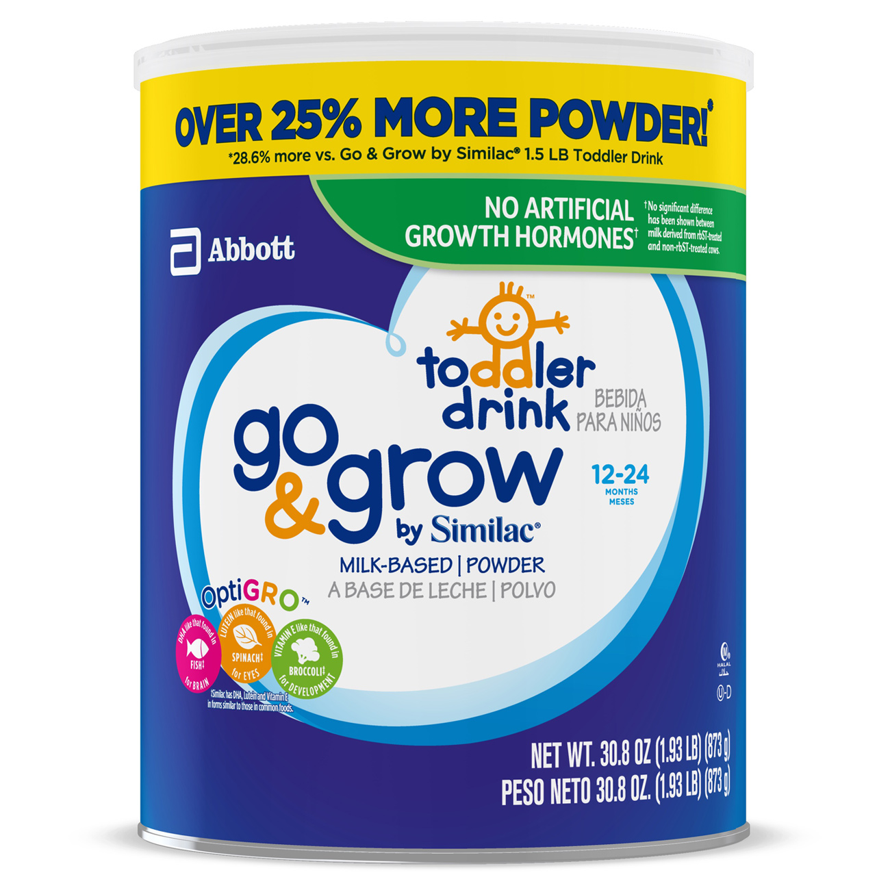 Go & Grow by Similac Toddler Drink 30.8 oz Can
