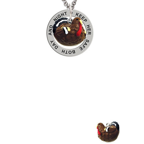 Resin Turkey Keep Her Safe Both Day And Night Affirmation Ring Necklace
