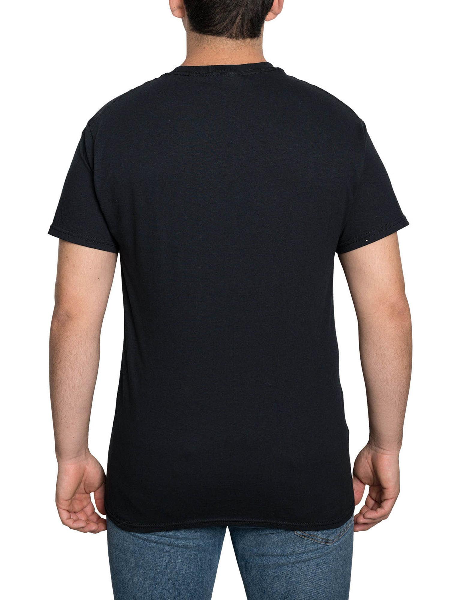 Disney Men/'s Nightmare Before Christmas Jack Skellington T-Shirt Santa Hat Black