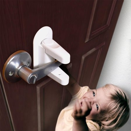 Door Lever Lock (2 Pack) Child Proof Doors & Handles Adhesive Child Safety 2 Handle Lever Mini