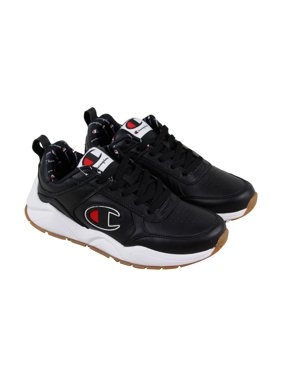 0a2fb31aaada2 Product Image Champion 93 Eighteen Big Mens Black Leather Lace Up Training  Shoes