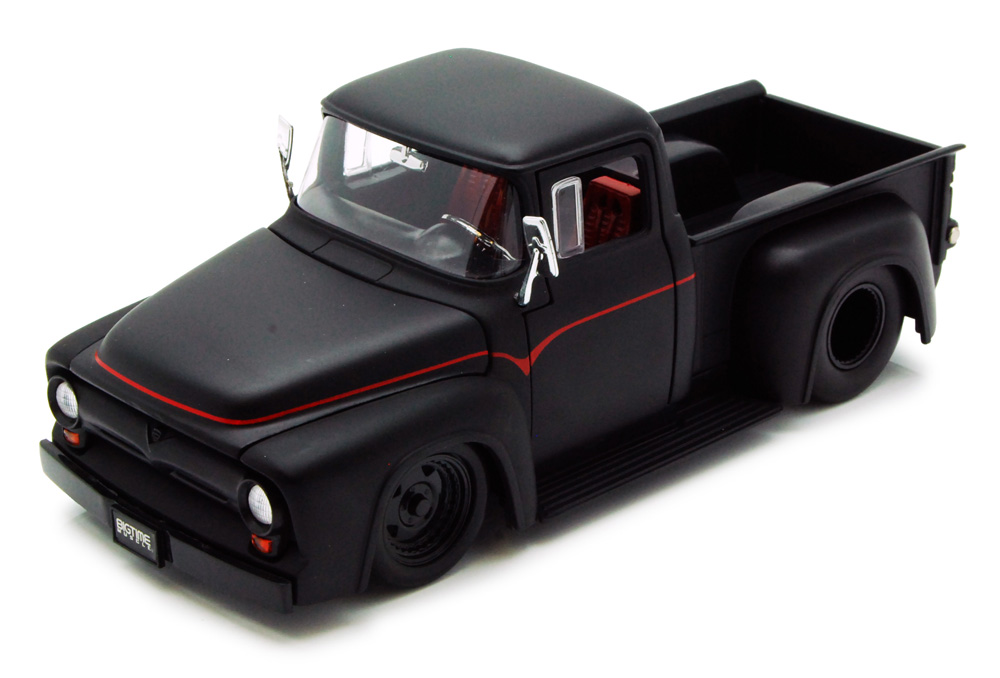 1956 Ford F-100 Pickup Truck, Black Jada Toys Bigtime Muscle 90484 1 24 scale Diecast... by Jada