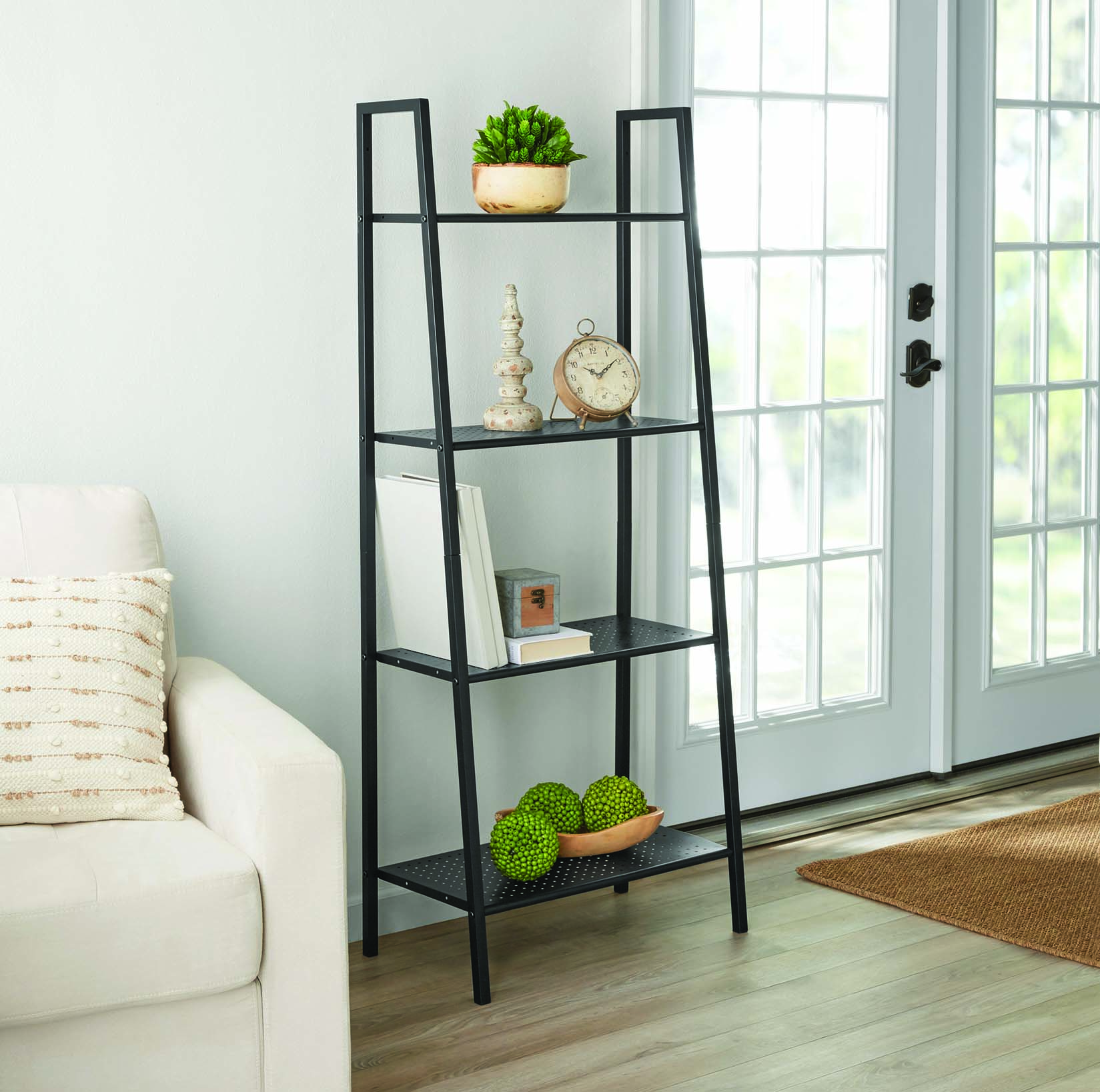 "Mainstays 58"" 4-Shelf Metal Ladder Bookcase"