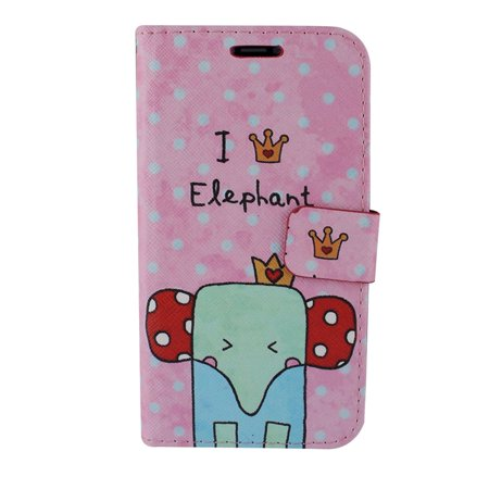Insten Elephant Stand Folio Flip Leather [Card Slot] Wallet Flap Pouch Case Cover For Apple iPhone X XS, Multi-Color