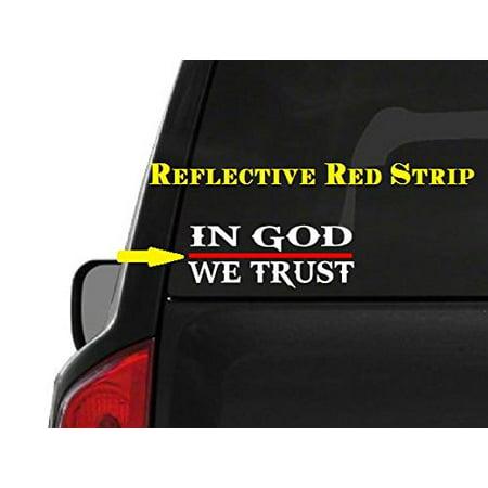 In God We Trust (M48) Thin Red Line Firefighter Vinyl Decal Sticker Car Window ()