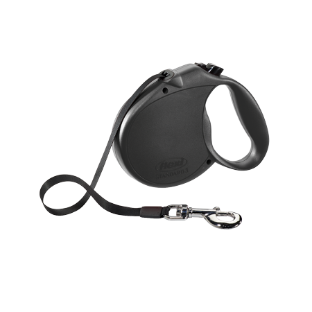 Hawkeye Dog Leash (flexi Retractable Dog Leash (Tape), 16 ft, Large, Black )