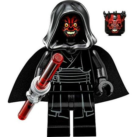 LEGO Star Wars Sith Minifigure - Darth Maul Evil Smile with Horns, Hood, and Lightsaber (75096)](Darth Maul Light Saber)