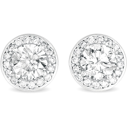 CZ Sterling Silver Stud Earrings