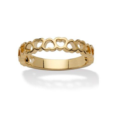 Heart Yellow Navel Ring (14k Yellow Gold-Plated