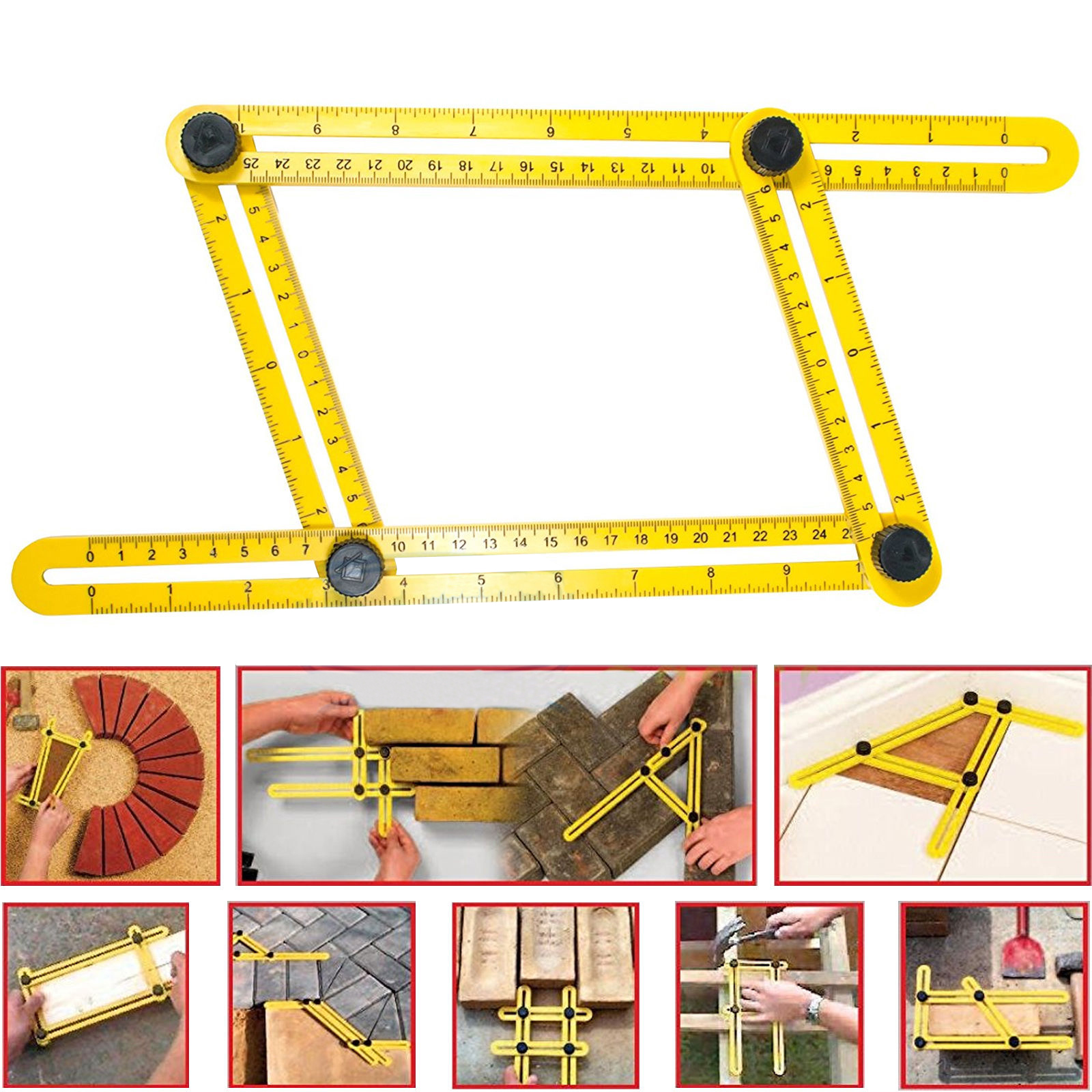 TSV Multi-Angle Measuring Ruler Ultimate Template Tools by