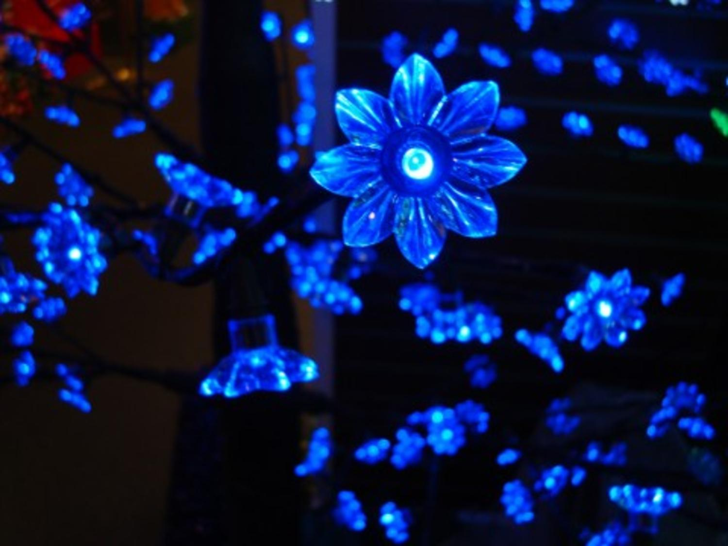 85 pre lit led outdoor christmas tree decoration blue flower lights walmartcom