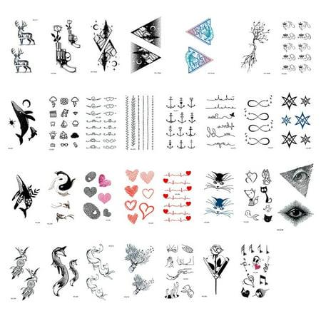Waterproof Tattoo Stickers Original Beautiful Personality Tattoo Stickers - image 4 of 6